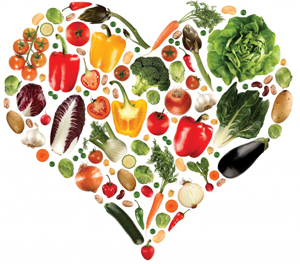 heart shaped fruit and vegetables